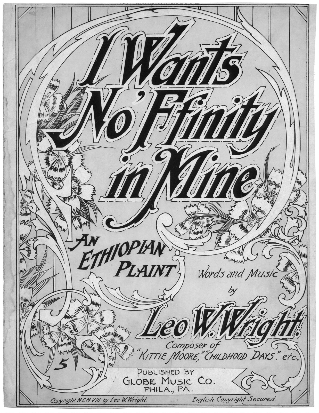 I want's no 'ffinity in mine