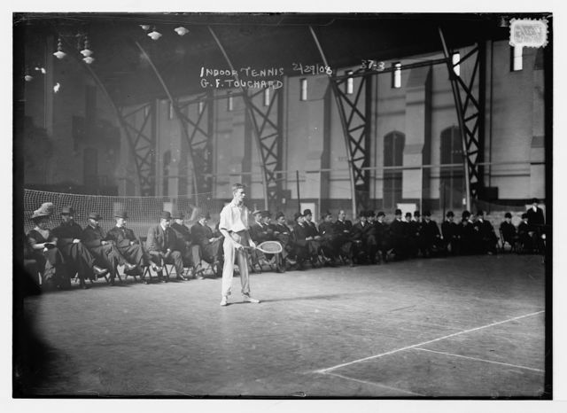 Indoor tennis, [7th regiment armory], G.F. Touchard
