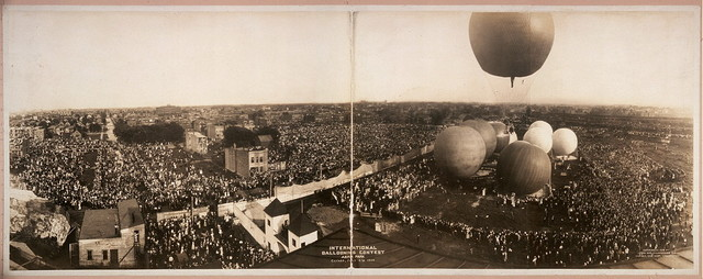 International Ballooning Contest, Aero Park, Chicago, July 4th, 1908