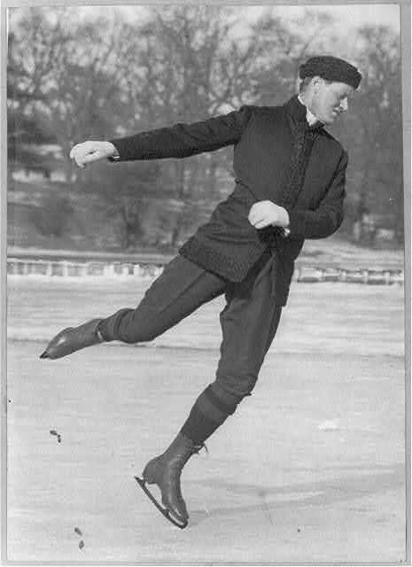[Irving Brokaw ice skating: dancing on ice - right profile]