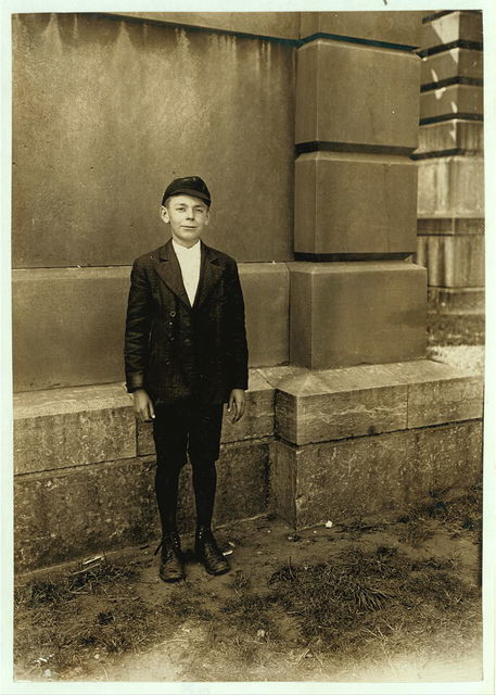 Jack, A Bright Indianapolis Boy of 13: Was a Messenger at the age of 11. Indiana has no age limit for mes'grs. Aug., 1908. Wit., E. N. Clopper.  Location: Indianapolis, Indiana.