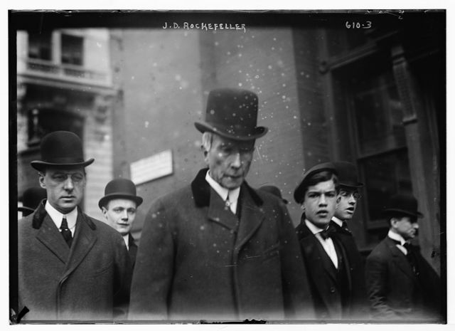 J.D. Rockefeller with others, New York