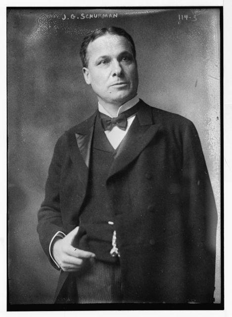 J.G. Shurman, standing, three-quarters