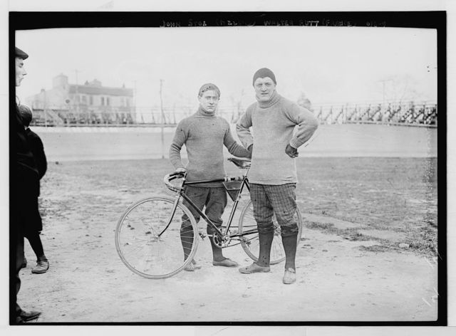 John Stol and Walter Rott with bicycle