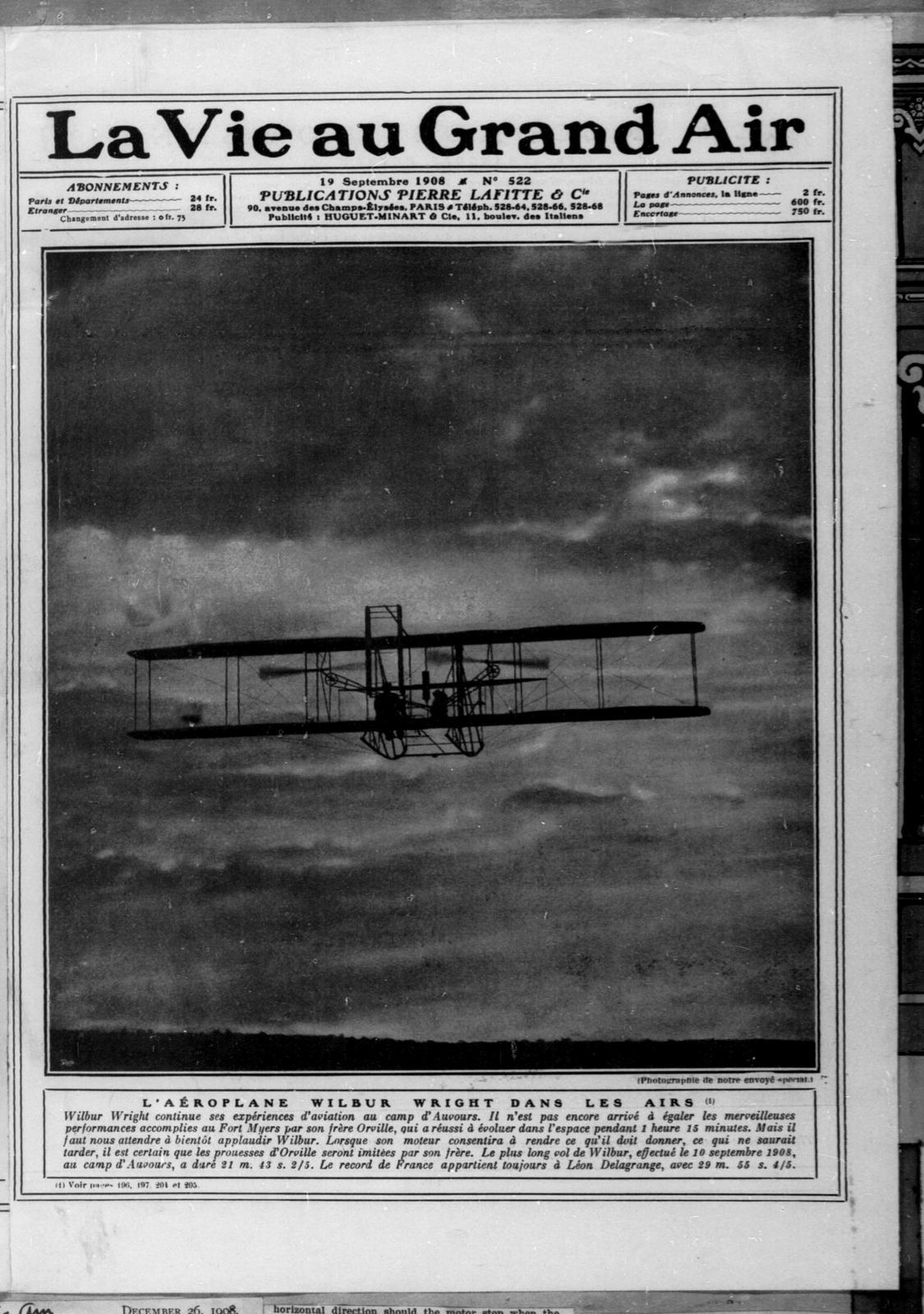 La Vie au Grand Air [19 September 1908]