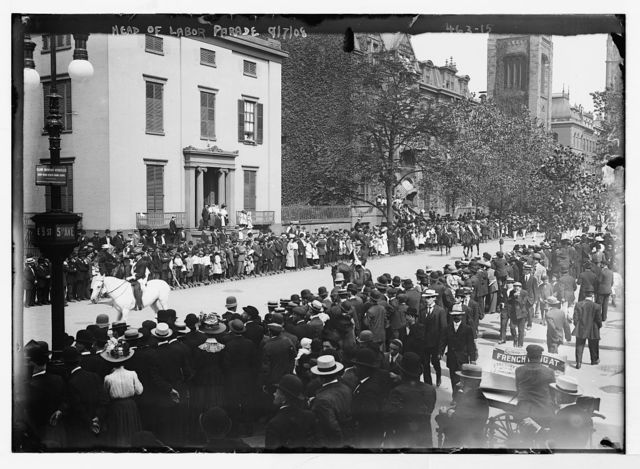 Labor Day Parade, equestrians leading parade, New York