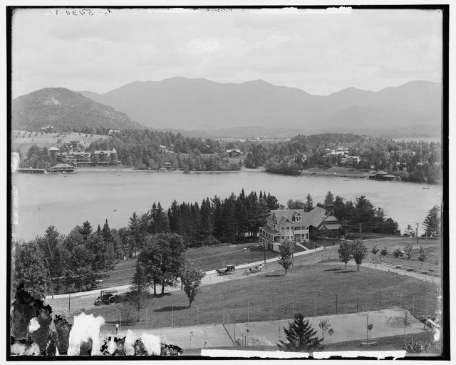Lake Placid and Mirror Lake, Adirondack Mts., N.Y.