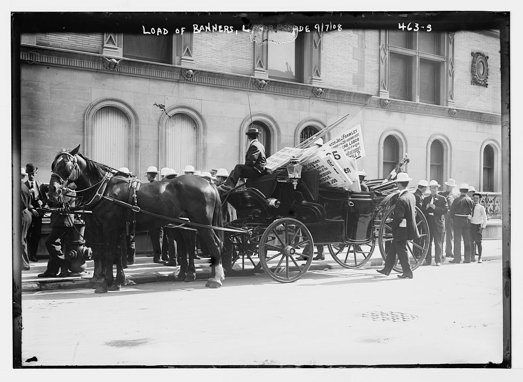 Load of banners, Labor Parade