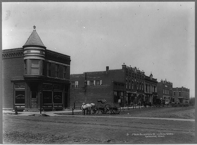 Main business street, looking north, Goodhue, Minn.