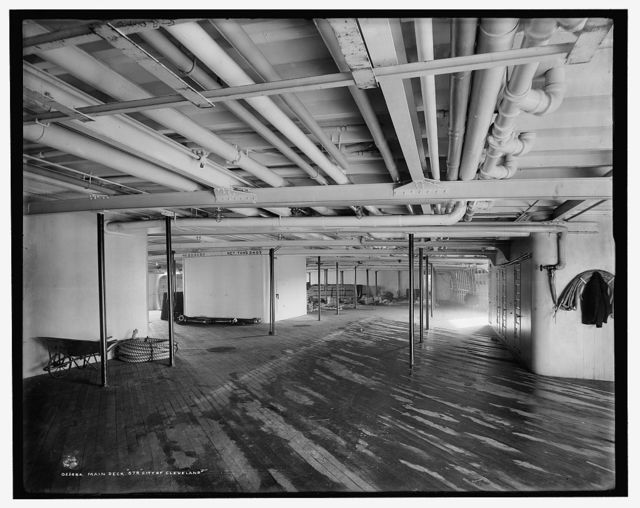 Main deck, Str. City of Cleveland, [Detroit & Cleveland Navigation Co.]