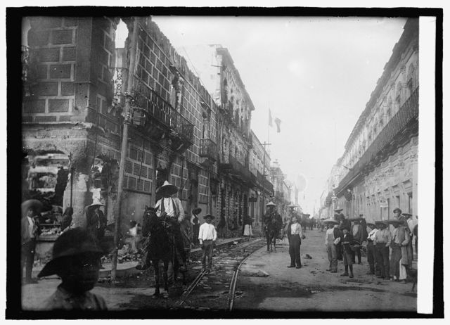 Main St. of Durango, Mexico during war