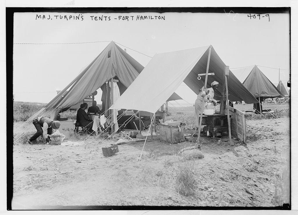 Maj. Turpin's tents, Fort Hamilton