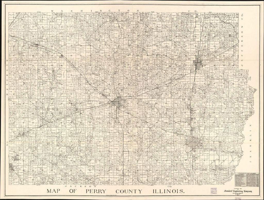 Map of Perry County, Illinois.