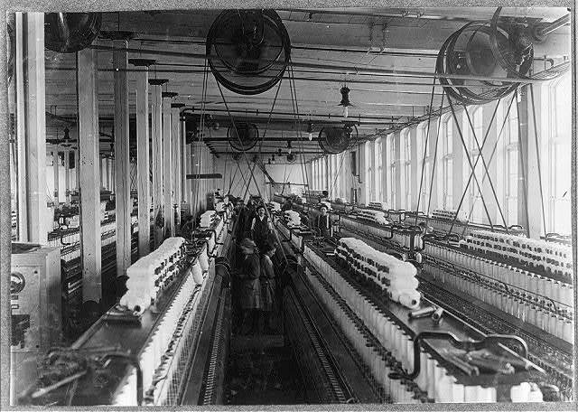 Mellville Mfg. Co., Cherryville, N.C. Spinning room.  Location: Cherryville, North Carolina.