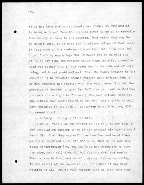 Minutes, September 26, 1908