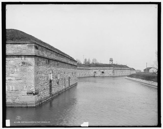 Moat and ramparts, Fort Monroe, Va.