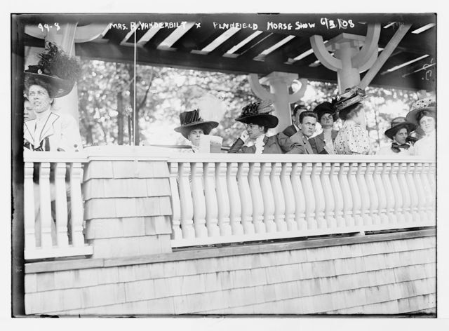 Mrs. R. Vanderbilt and others in box at Plainfield Horse Show