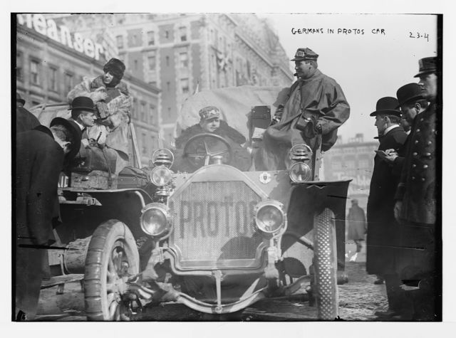 New York - Paris race: Germans in Protos car, New York