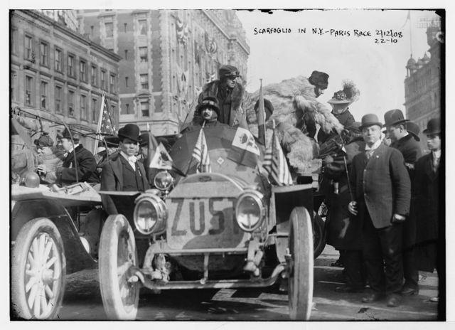 New York - Paris race: Scarfoglio, New York