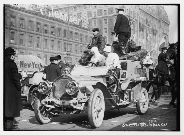 New York - Paris race: St. Chaffray - Dedion car, New York
