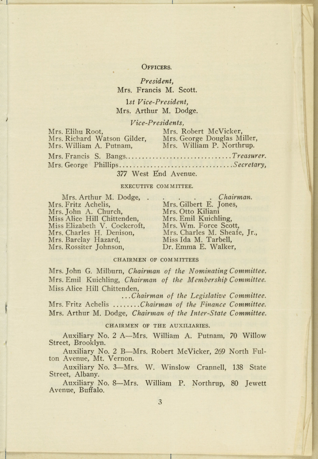 New York State Association Opposed to Woman Suffrage Thirteenth Annual Report