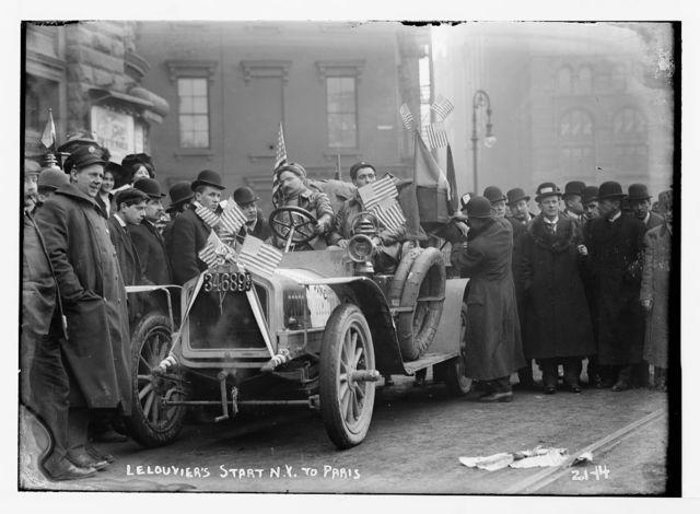 New York to Paris race - start of Lelouvier