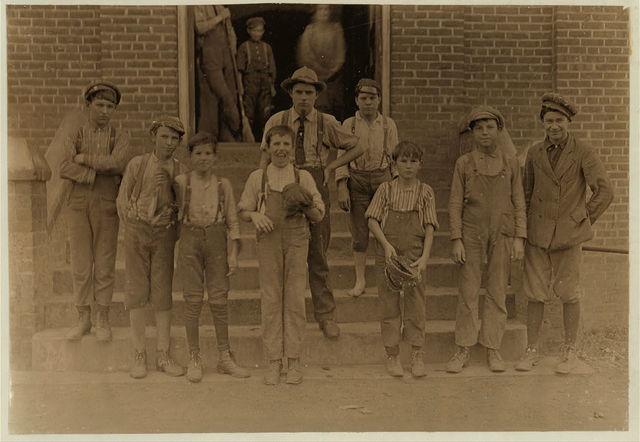 Noon hour, Lancaster Cotton Mills, S.C.  Location: Lancaster, South Carolina.