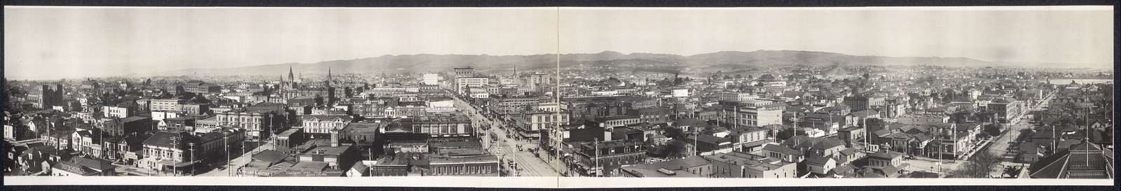 Oakland, Cal. from Courthouse, April 1st, 1908