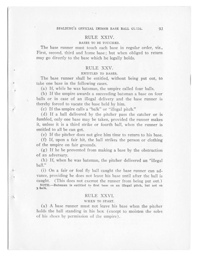 Official indoor base ball guide containing the constitution, 1908