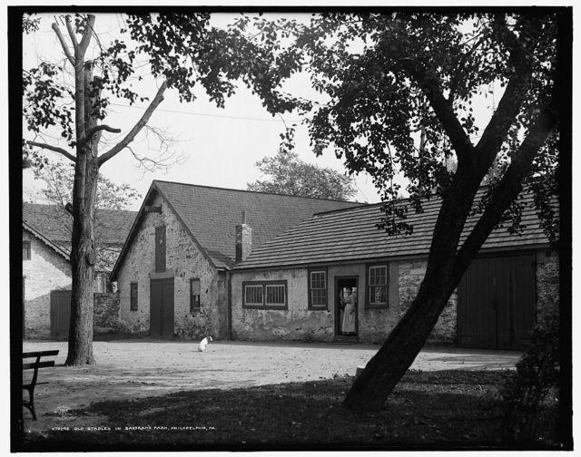 Old stables in Bartram's Park [Bartram's Gardens], Philadelphia, Pa.