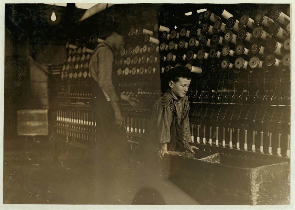 One of the doffers in Cawtaba Cotton Mill, Newton, N.C.  Location: Newton, North Carolina.