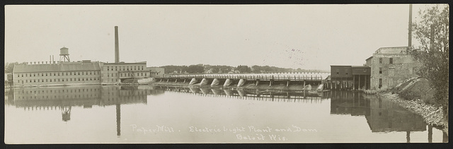 Paper mill, electric light plant and dam, Beloit, Wis.