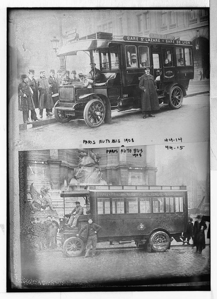 Paris auto bus 1908