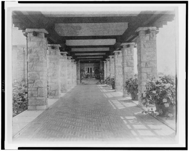 [Pergola of home of Edmund Cogswell Converse, Greenwich, Connecticut]