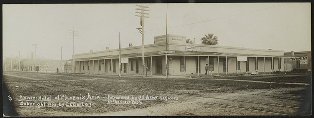 Pioneer hotel of Phoenix, Ariz., patronized by U.S. Army officers in the early '80s / Lester Clement Barton.