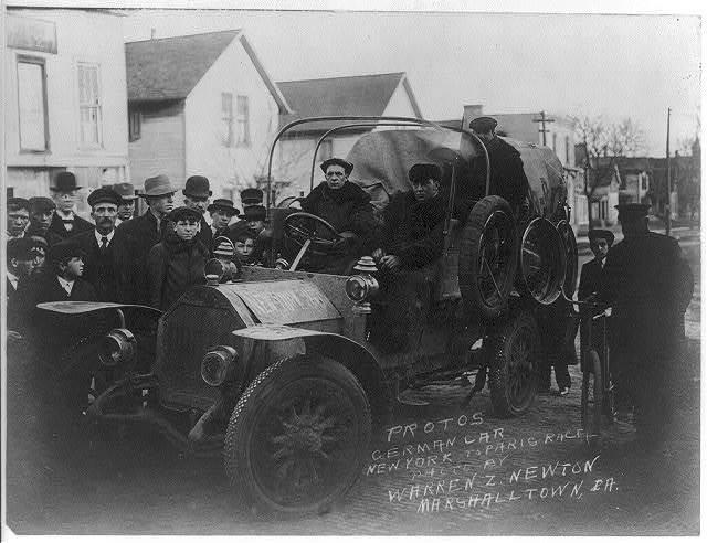 Protos German car New York to Paris race