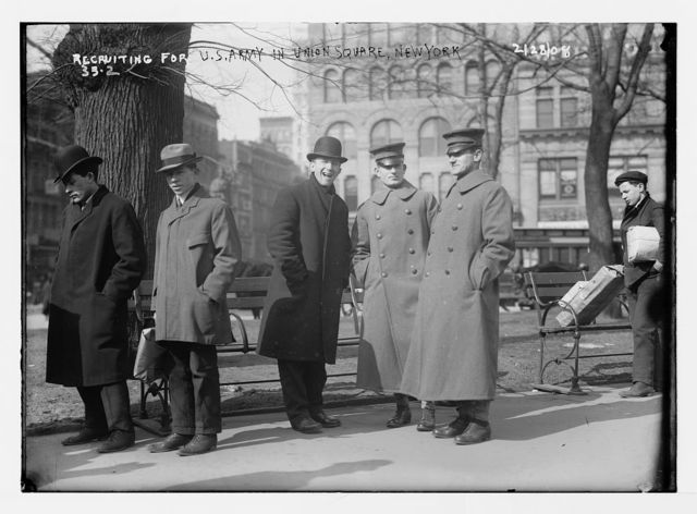 Recruiting for U.S. Army in Union Square, New York