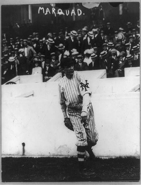 "[Richard William ""Rube"" Marquard, baseball player for New York, throwing baseball]"