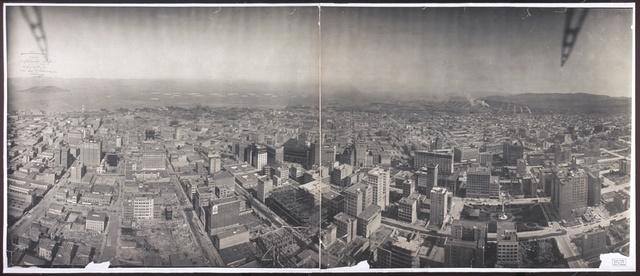 San Francisco from captive airship, 1908