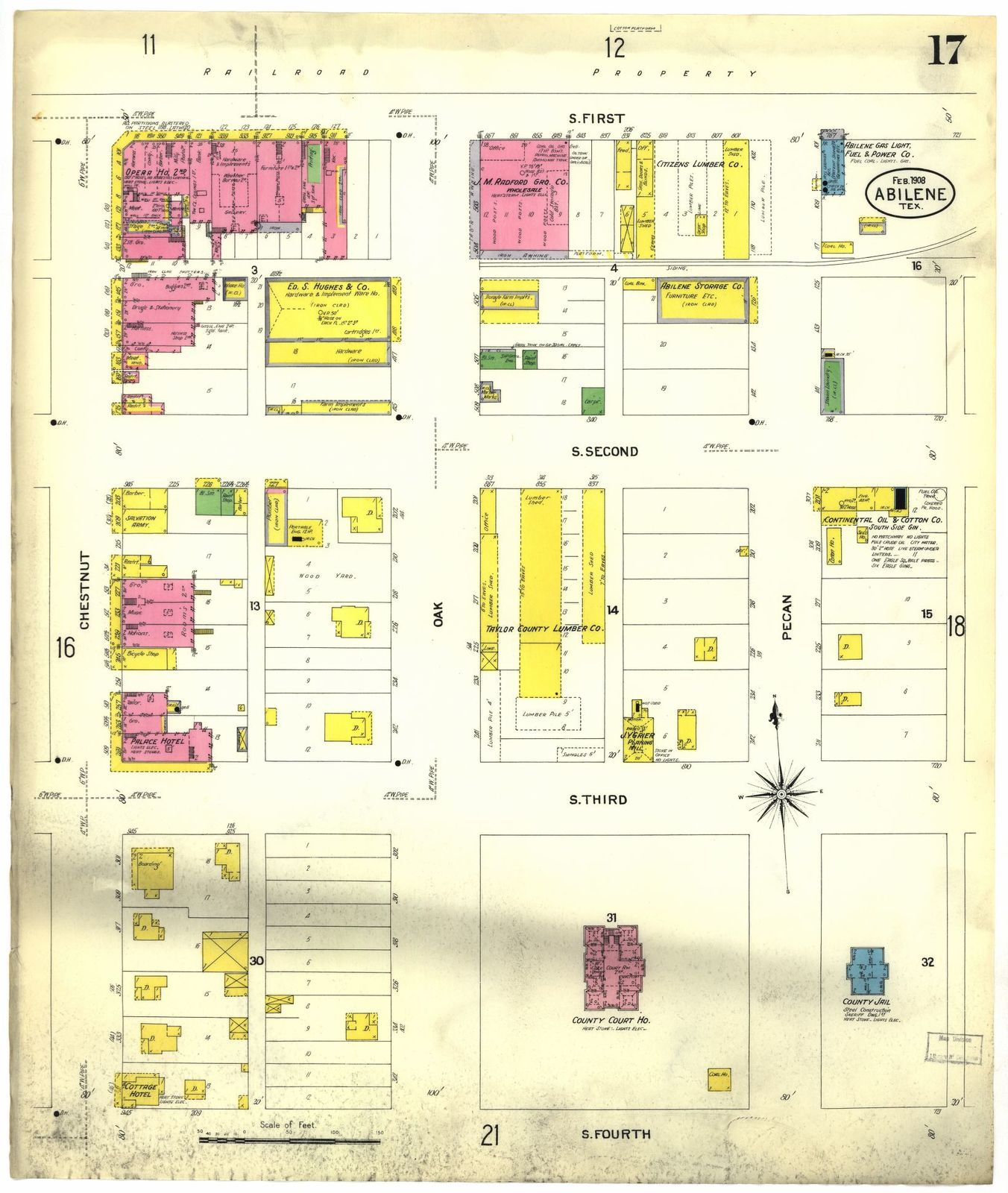 Sanborn Fire Insurance Map from Abilene, Taylor County, Texas.