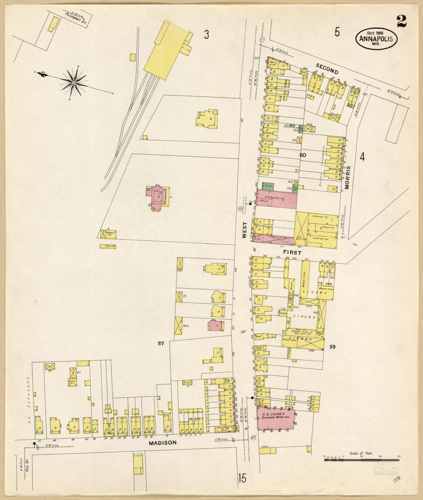 Sanborn Fire Insurance Map from Annapolis, Anne Arundel ... on map of marion county, map of clarke county, map of st mary's county, map of rappahannock county, map of aa county, map of harford county, map of jackson county, map of kings county, map of calvert county, map of clark county, map of duval county, map of laurel county, map of baltimore county public schools, map of baltimore county md, map of garrett county, map of talbot county, map of preston county, map of caroline county, map of prince george's county, map of howard county md,