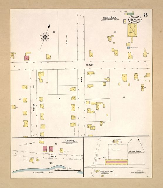 Sanborn Fire Insurance Map from Berlin, Hartford County, Connecticut.