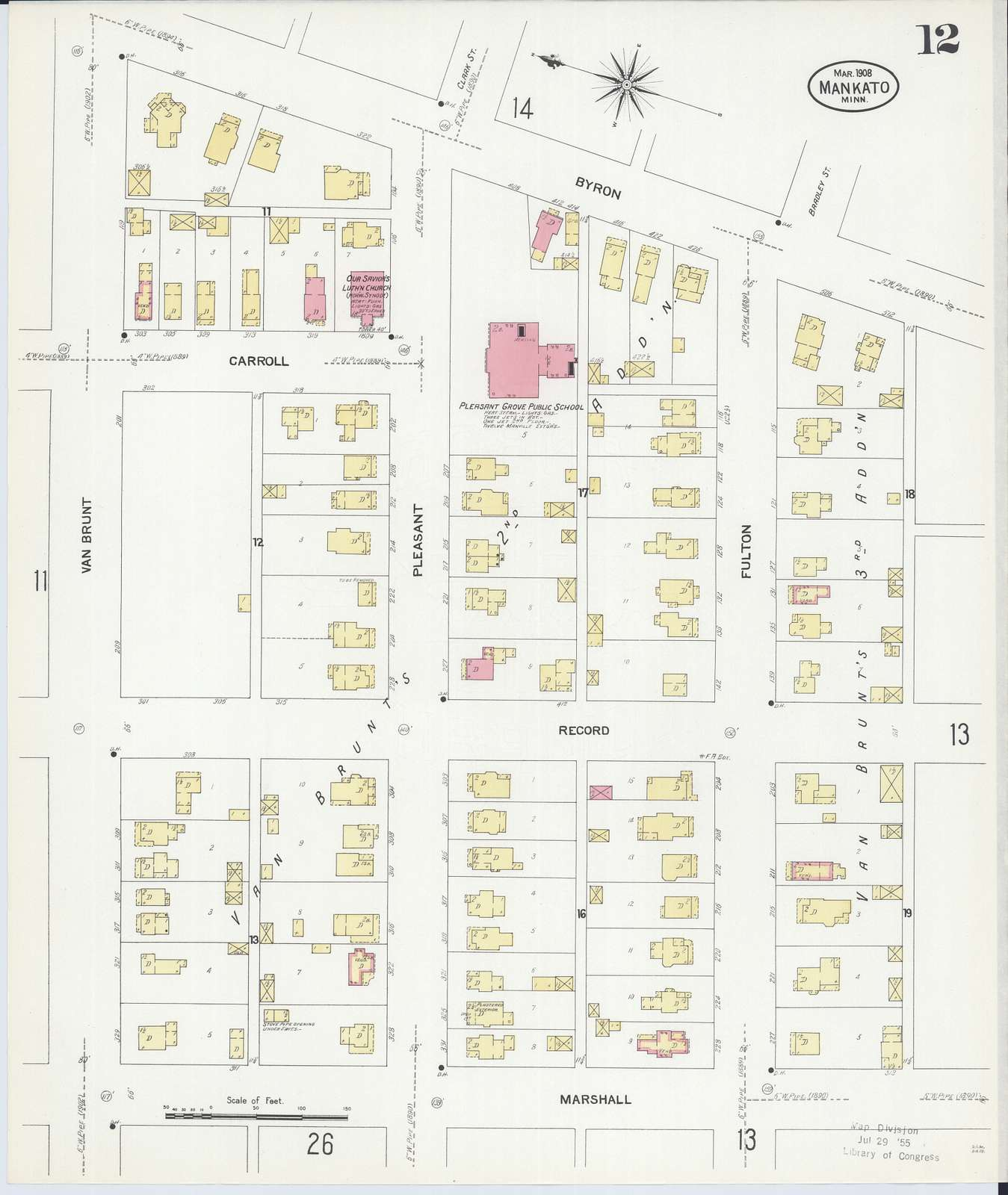 Sanborn Fire Insurance Map from Mankato, Blue Earth And Nicollet Counties, Minnesota
