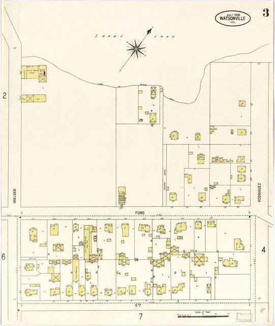 Sanborn Fire Insurance Map from Watsonville, Santa Cruz County, California.