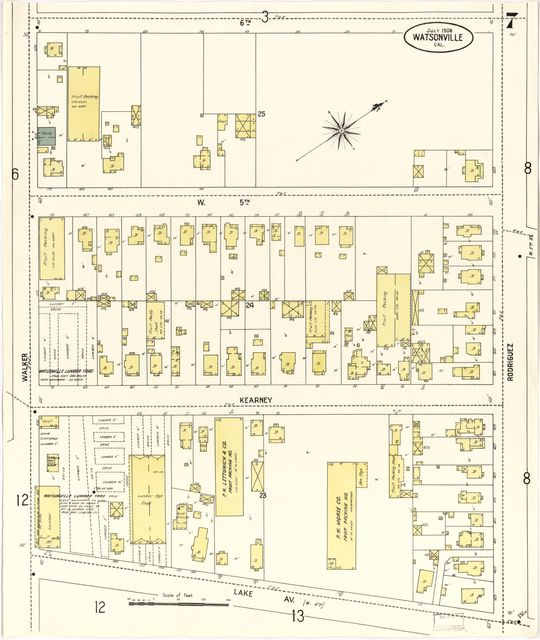 Sanborn Fire Insurance Map from Watsonville, Santa Cruz County, California.