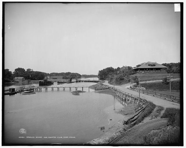 Sewall's bridge and [York] Country Club, York, Maine