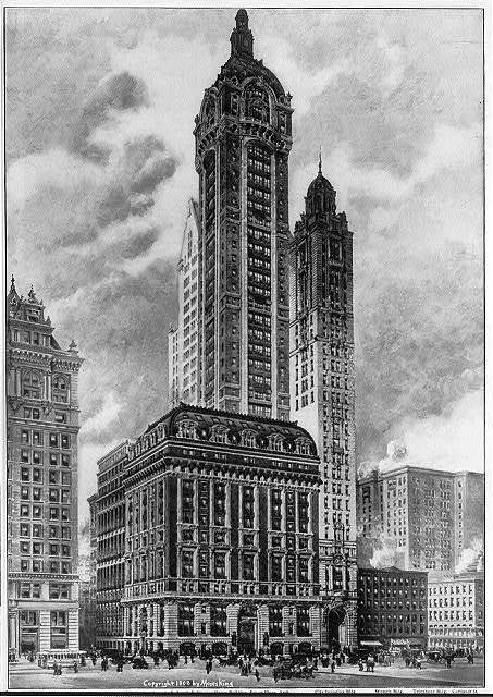 Singer Building, N.W. corner of Broadway and Liberty St., New  York City