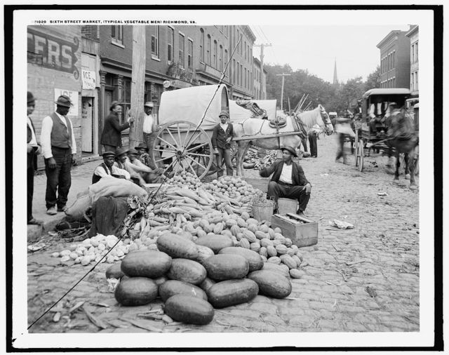Sixth Street Market (typical vegetable men), Richmond, Va.