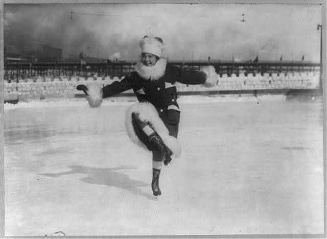 Skating - Miss Nancy Rowe, a competitor in St. Paul Outdoor Sports Carnival Fancy Skating Contest, [ice skating] - Feb. 1st