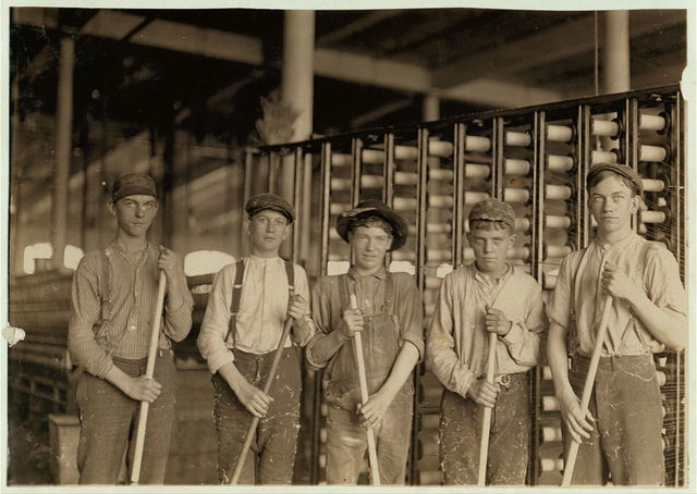 Some Sweepers in a N.C. cotton mill. N.C.  Location: North Carolina.